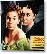 Rebecca, From Left Joan Fontaine Metal Print