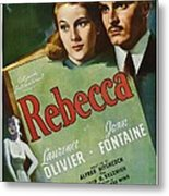 Rebecca, Joan Fontaine, Laurence Metal Print by Everett