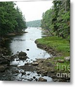 Receding Tide In Maine Part Of A Series Metal Print