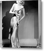 Reckless, Jean Harlow, In A  Dress Metal Print by Everett