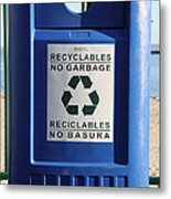 Recycling Bin Metal Print by Photo Researchers, Inc.