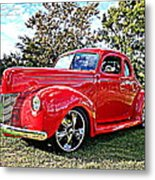 Red 1940 Ford Deluxe Coupe Metal Print