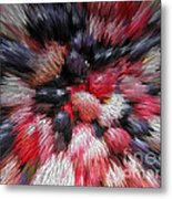 Red And Black Explosion #01 Metal Print