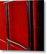 Red And Black Train Ladder Metal Print
