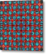 Red And Blue Abstract Metal Print