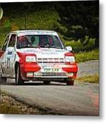 Red And White Renault 5 Metal Print