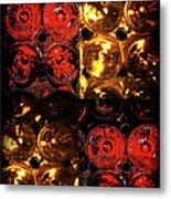 Red And White Wine Collage Metal Print