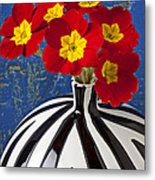 Red And Yellow Primrose Metal Print by Garry Gay