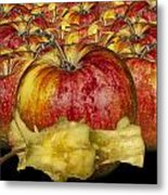 Red Apples And Core Metal Print