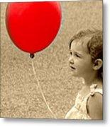 Red Baloon Metal Print
