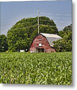 Red Barn - What Charm Metal Print