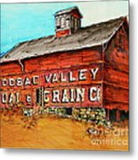 Red Barn Adams Mass Metal Print