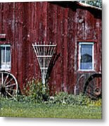 Red Barn Wall Metal Print