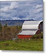 Red Barn With Tin Roof Metal Print