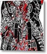 Red Black 2 Metal Print