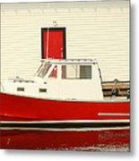 Red Boat Red Door Metal Print