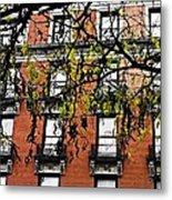 Red Brick Building Metal Print