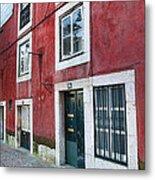 Red Building  Lisboa Portugal Metal Print