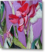 Red Canna Lily Metal Print by Suzanne Willis