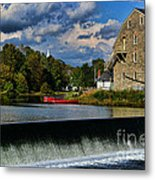 Red Canoes At The Boathouse Metal Print by Paul Ward