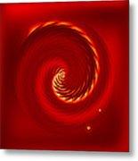Red Cherry Blossom Metal Print by Li   van Saathoff