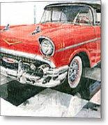 Red Chevrolet 1957 Metal Print