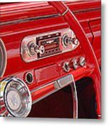 Red Chevy II Metal Print
