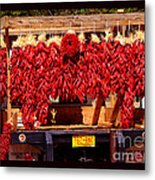 Red Chili Ristra Truck Metal Print