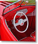 Red Classic Car Metal Print