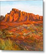 Red Cliffs Metal Print by Jack Skinner