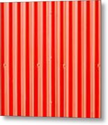 Red Corrugated Metal Metal Print