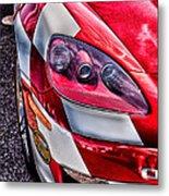 Red Corvette Metal Print