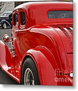 Red Coupe Metal Print