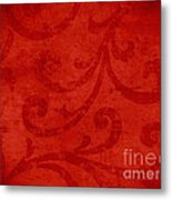 Red Crispy Oriental Style Decor For Fine Design. Metal Print by Marta Mirecka