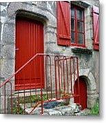 Red Door In Laroche Bernard Metal Print