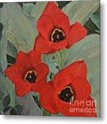 Red Emperor Tulip Study Metal Print