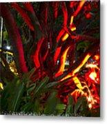 Red Entanglement Metal Print