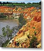 Red Eroded Soil Metal Print