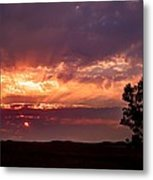Red Fire Sunset Metal Print