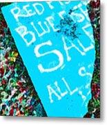 Red Fish Blue Fish Sale Metal Print
