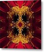 Red Flower Art Metal Print
