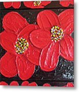 Red Flowers Metal Print by Merlene Pozzi