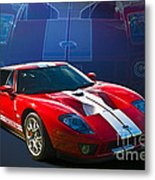 Red Ford Gt40 Metal Print