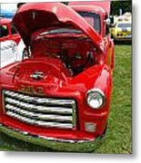Red Gmc Metal Print