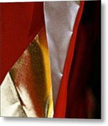 Red Gold And White Metal Print