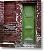 Red Green Facade. Belgrade. Serbia Metal Print