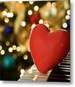 Red Heart On Piano, Sandusky Metal Print by Ray Sandusky / Brentwood, TN
