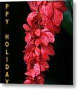 Red Holiday Greeting Card Metal Print