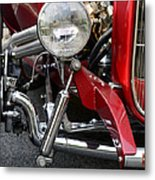 Red Hot Rod- Light And Chrome Metal Print