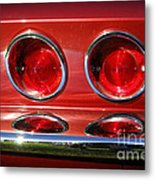 Red Hot Vette Metal Print